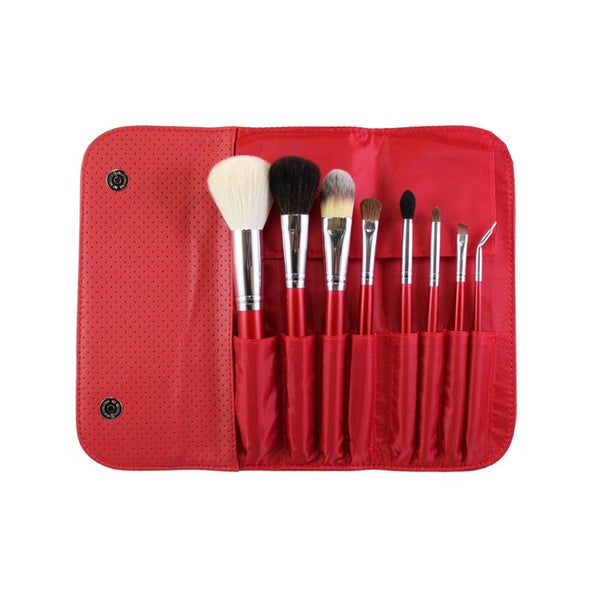 Morphe 8-Piece Candy Apple Red Brush Set
