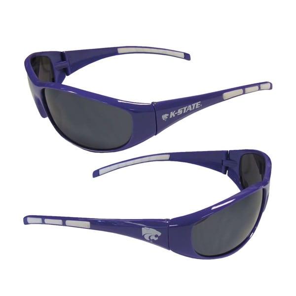 NCAA Kansas State Wildcats Wrap 3 Dot Sunglasses 16499076