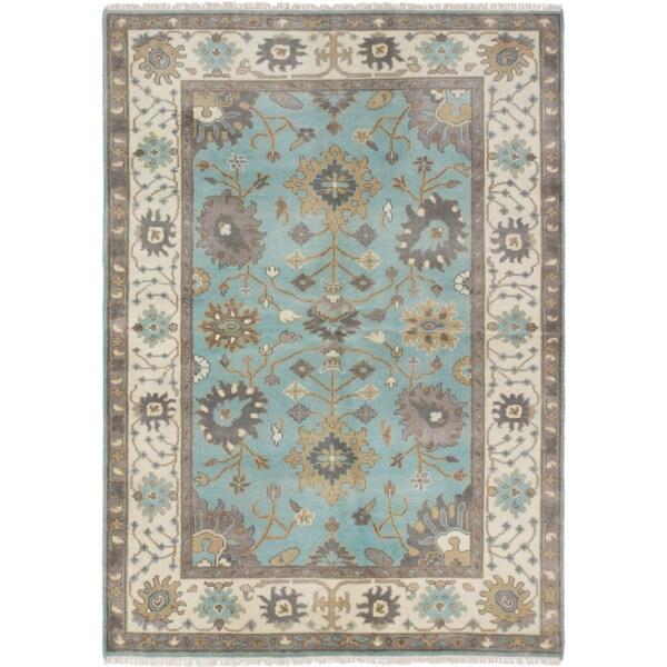 ecarpetgallery Royal Ushak Blue Rug (6' x 8') 16499199