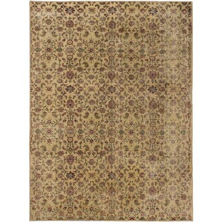 ecarpetgallery Anatolian Sunwash Beige/ Yellow Wool Rug (7' x 9')