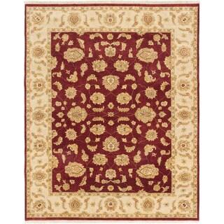 ecarpetgallery Chobi Twisted Red Wool Rug (7' x 9')