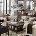 TRIBECCA HOME Knightsbridge Tufted Scroll Arm Chesterfield 5-Seat L-Shaped Sectional