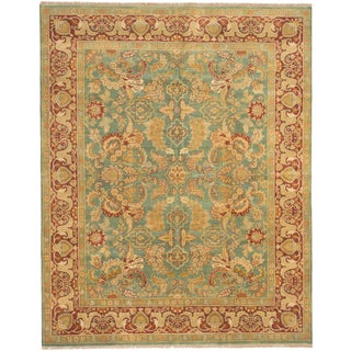 ecarpetgallery Royal Ushak Green Wool Rug (7' x 9')