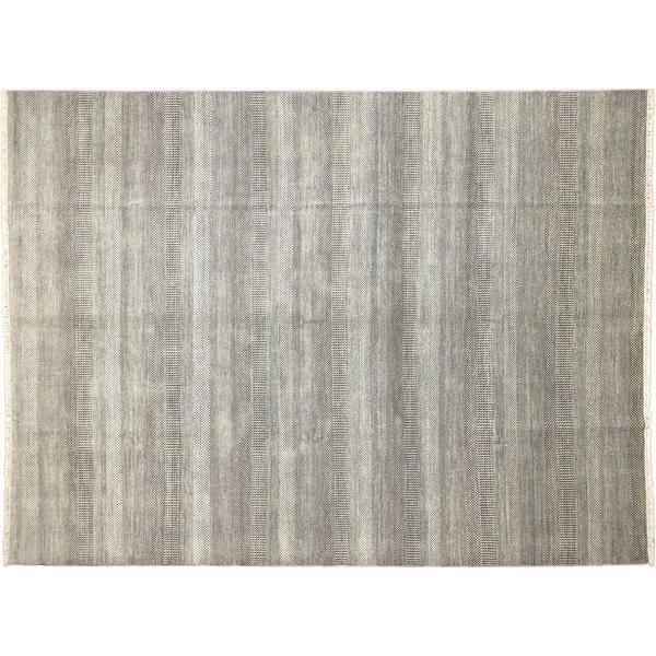Fine Grass Deniza Grey Hand-Knotted Rug (10'0 x 13'5)