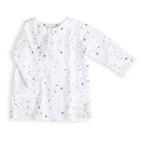 aden + anais Boys 6-9 Months Night Sky Starburst Muslin Tunic Top