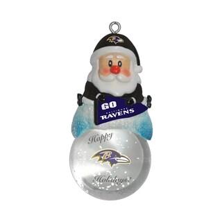 Baltimore Ravens Santa Snow Globe Ornament