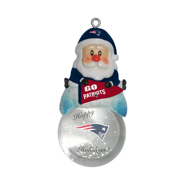 New England Patriots Santa Snow Globe Ornament