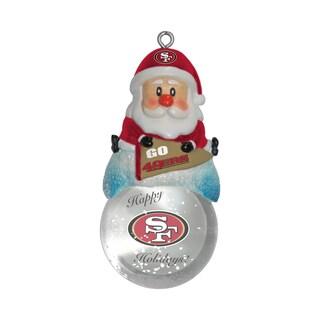 San Francisco 49ers Santa Snow Globe Ornament