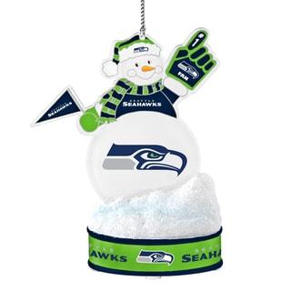 Seattle Seahawks LED Snowman Ornament