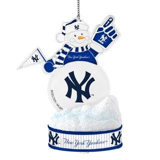 New York Yankees LED Snowman Ornament