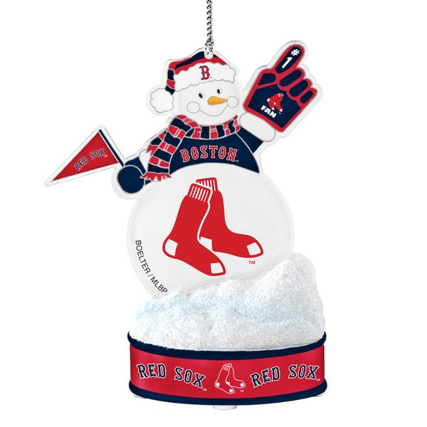 Boston Red Sox LED Snowman Ornament 16499539