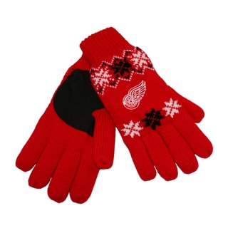 Forever Collectibles NHL Detroit Red Wings Lodge Gloves with Padded Palms