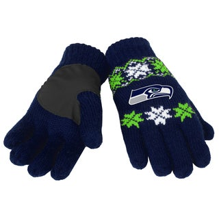 Forever Collectibles NFL Seattle Seahawks Lodge Gloves with Padded Palms