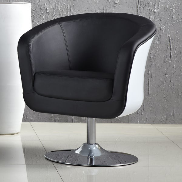 Somette Aero White Accent Chair
