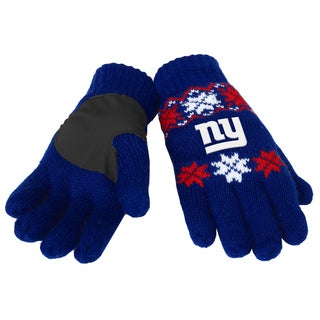 Forever Collectibles NFL New York Giants Lodge Gloves with Padded Palms