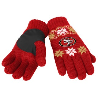 Forever Collectibles NFL San Francisco 49ers Lodge Gloves with Padded Palms