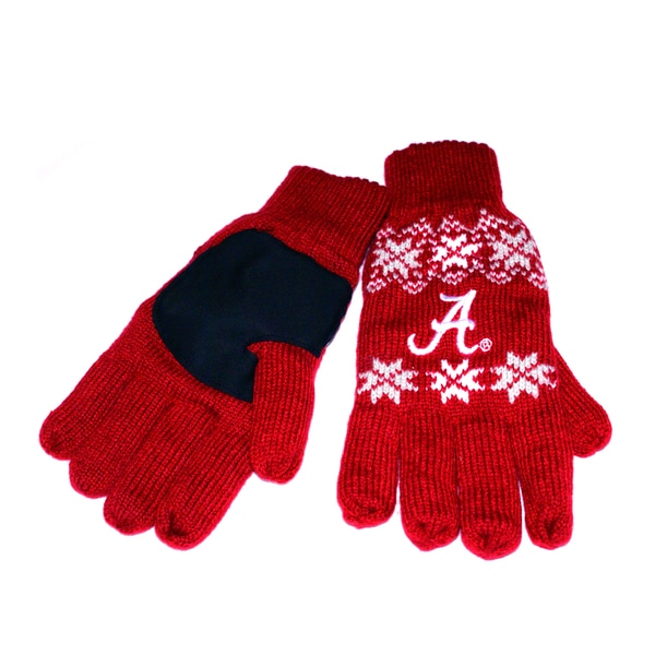 Forever Collectibles Alabama Crimson Tide Lodge Gloves with Padded Palms