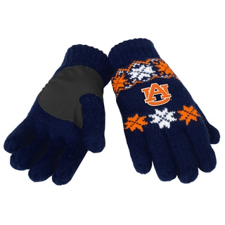 Forever Collectibles Auburn Tigers Lodge Gloves with Padded Palms