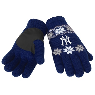 Forever Collectibles New York Yankees Lodge Gloves with Padded Palms