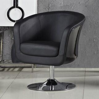 Somette Aero Black Accent Chair