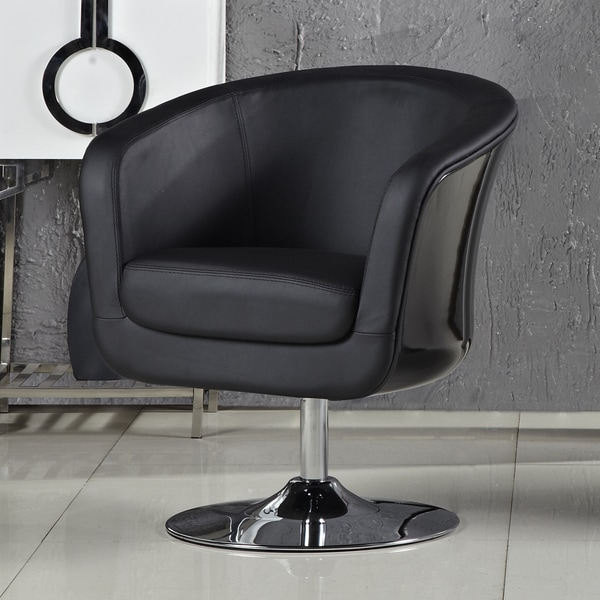 Somette Aero Black Accent Chair
