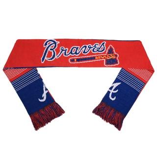 Forever Collectibles MLB Atlanta Braves Split Logo Reversible Scarf