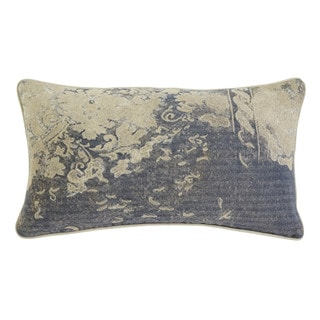 Patterned Gray Throw Pillow