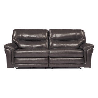 Signature Design by Ashley Banetonville Metal 2 Seat Reclining Power Sofa