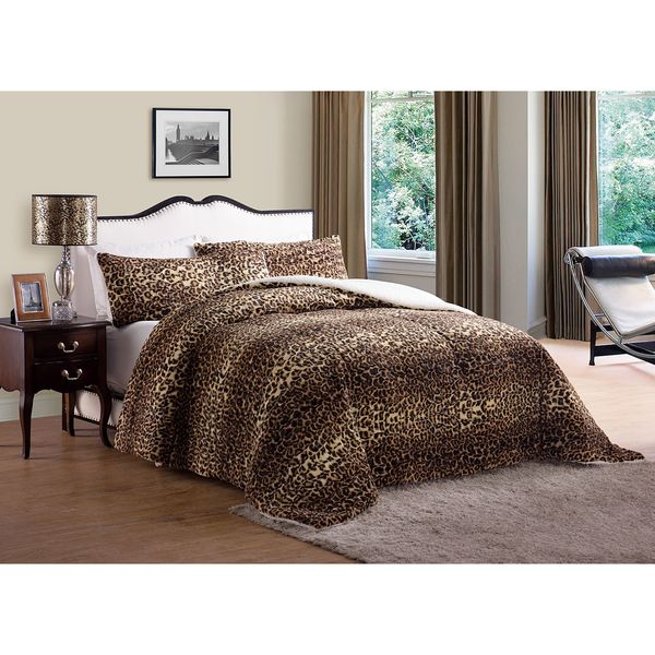 Animal Faux Fur Comforter