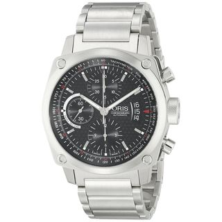 Oris Men's 67476164154MB 'BC4' Automatic Chronograph Stainless Steel Watch