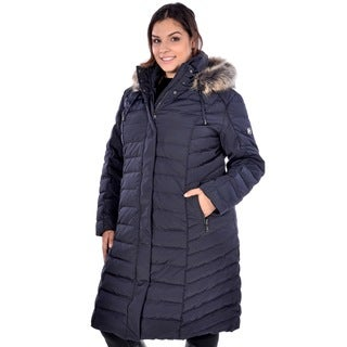 Nuage Women's Plus Size 'Provence' Long Coat