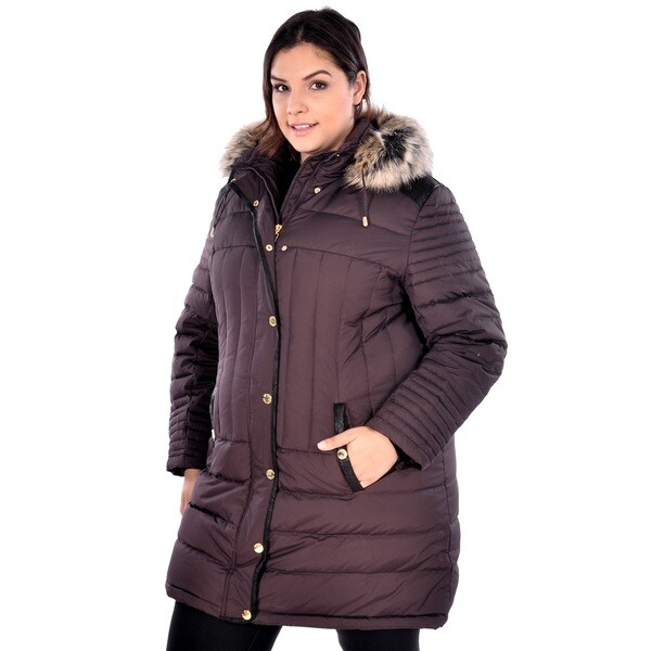 Nuage Women's Plus Size 'Melbourne' Down Coat