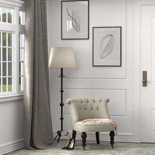 Portfolio Vicki Barley Tan Linen Petite Armless Chair