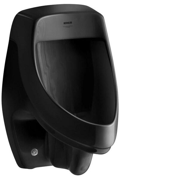 Kohler Dexter 1.0 GPF Elongated Urinal with Rear Spud in Black Black