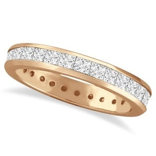 14k Gold 1.56ct Channel-Set Princess Cut Diamond Eternity Ring (G-H, SI1-SI2)