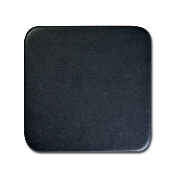Classic Black Top Grain Leather Square Coaster
