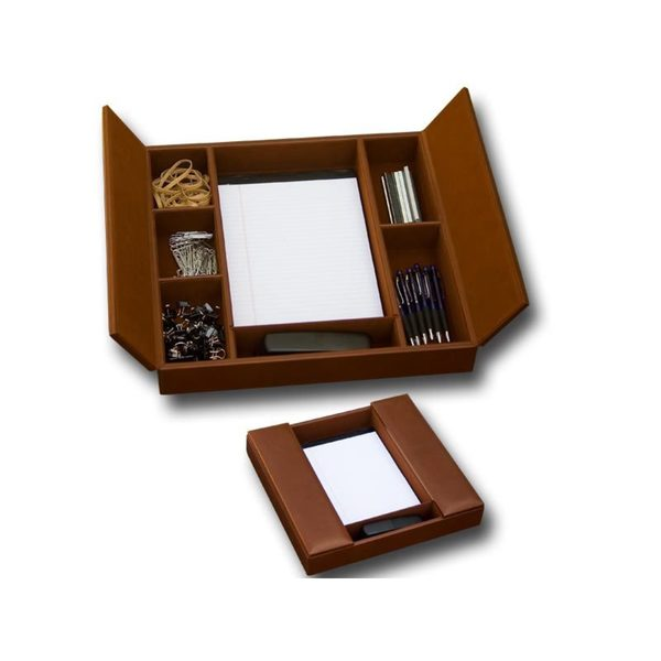 Rustic Brown Enhanced Conference Room Organizer