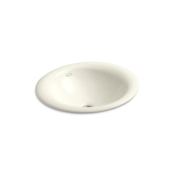 Kohler Iron Bell Vessel Sink in Biscuit
