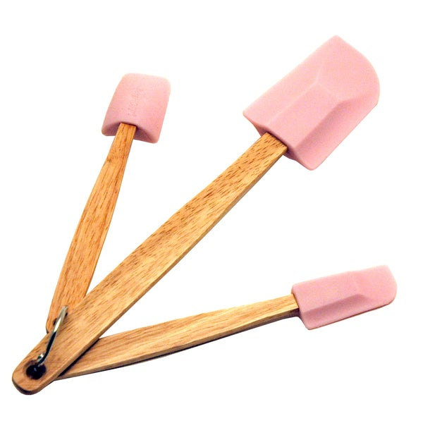 Pink 3-piece Baking Spatula Set