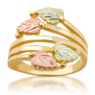 10k Yellow Gold and Black Hills Gold Multi-Leaf Ring