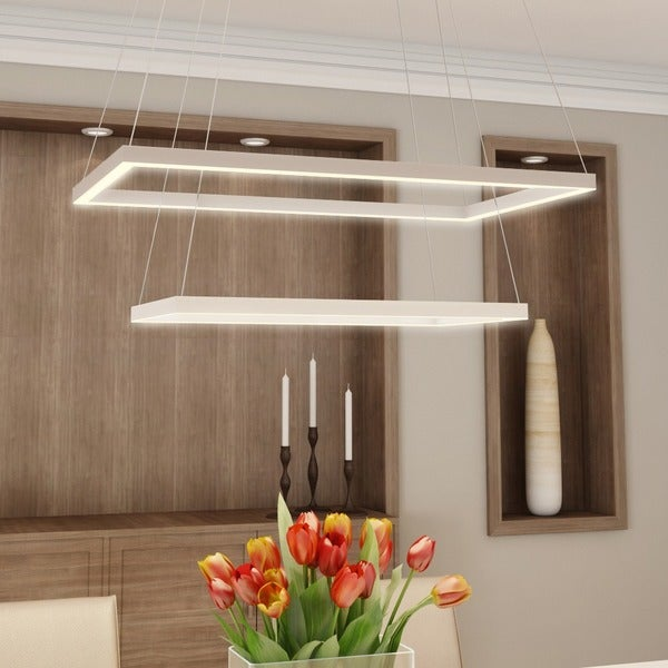 Atria Duo 78W LED Low-Profile Chandelier