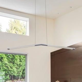 VONN Lighting Haeidi 43 inches LED Chandelier, Adjustable Suspension Fixture, Modern Linear Chandelier Lighting