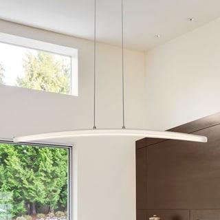 VONN Lighting Haeidi 32-inch LED Chandelier, Adjustable Suspension Fixture, Modern Linear Chandelier Lighting