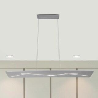 VONN Lighting Tureis 45-inch LED Satin Nickel Brushstroke Linear Chandelier