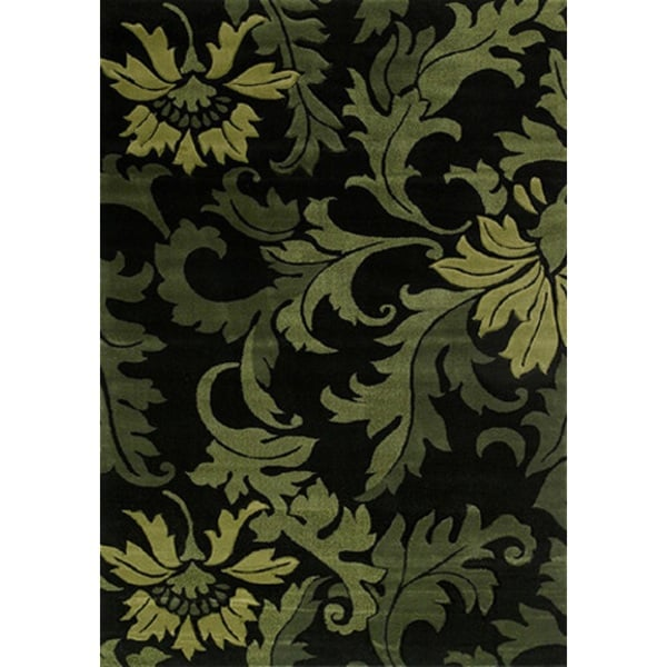 Contours Orleans Green Area Rug (7'10 x 10'6)