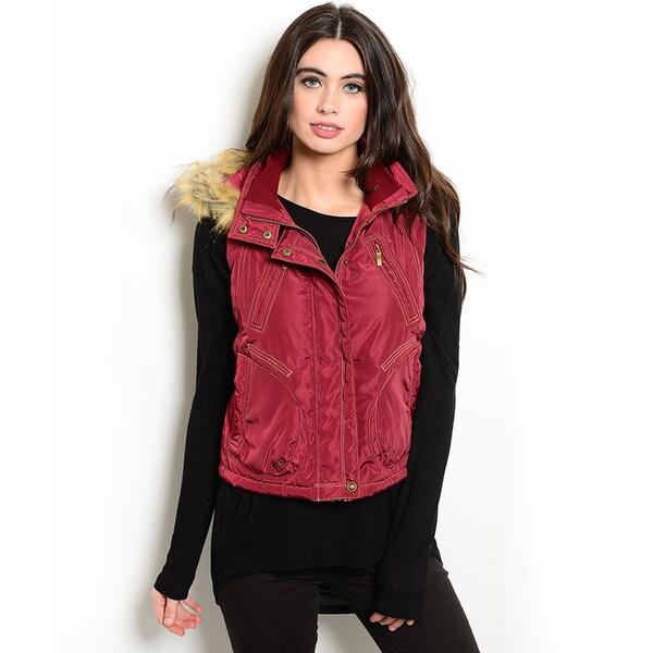 Shop the Trends Women's Sleeveless Down Vest