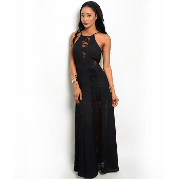 Shop the Trends Women's Spaghetti Strap Maxi Dress