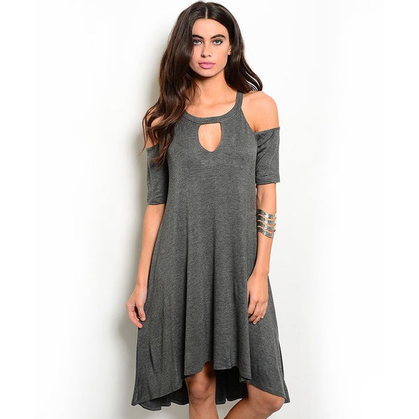 Shop the Trends Women's Short-Sleeve Jersey Knit Dress