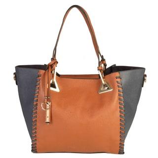 Rimen and Co. Saffiano Faux Leather Tote 2-in-1 Large Handbag