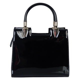 Rimen and Co. Patent Leather Satchel Crossbody Square Handbag